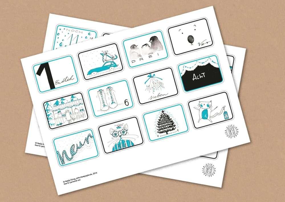 Stiftscherepapier-Adventskalender-Freebie-download-tuerkis