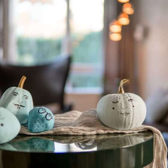 Kürbis Herbstdeko zu Halloween