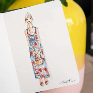 Sommerhochzeit illustriert von Nadja König - Milkwhite.