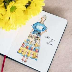 Sommerhochzeit illustriert von Nadja König - Rianna & Nina