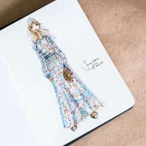 Sommerhochzeit illustriert von Nadja König - Sandro Paris