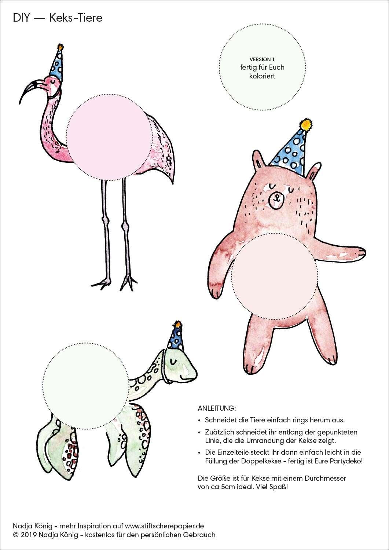 Illustration Freebie Partydeko