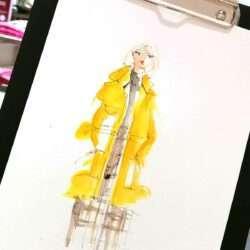 Live Illustration Fashion Sketch Nadja König