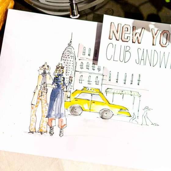 New York Club Sandwich - Illustriert von Nadja König