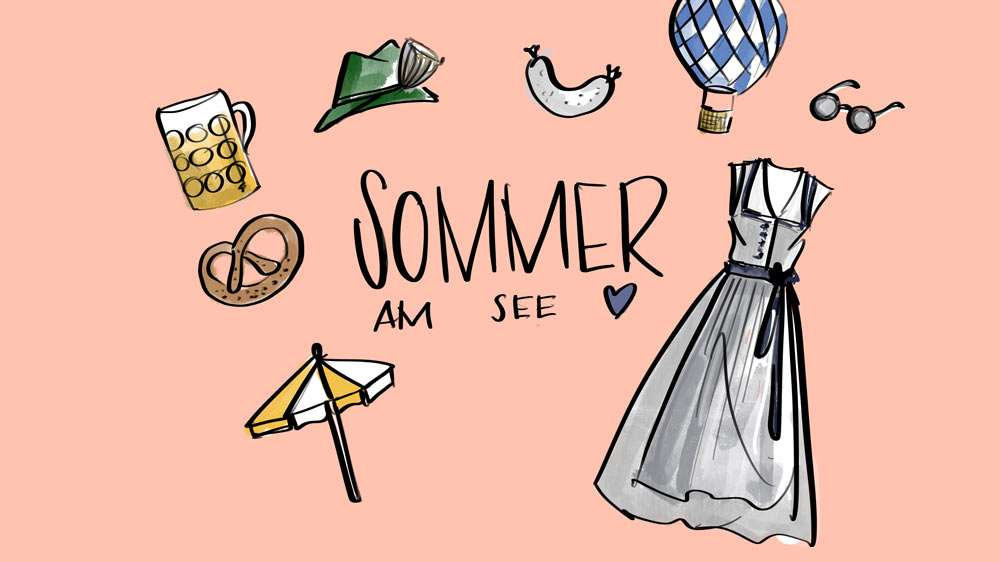 Nadja König Illustration Sommer am Tegernsee