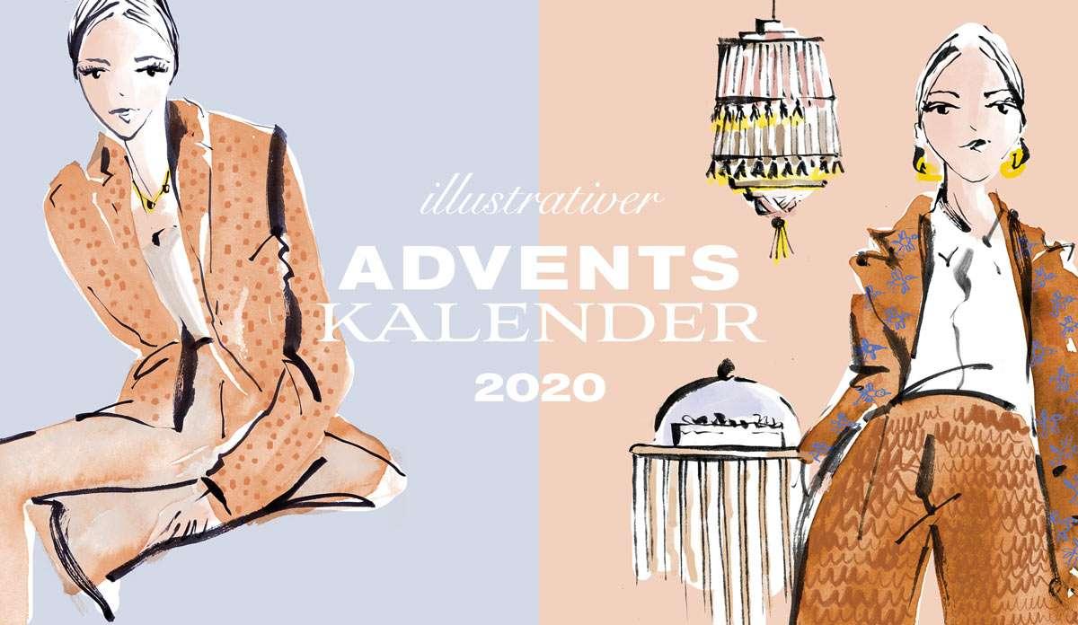 Nadja König illustrativer Adventskalender Local Support München