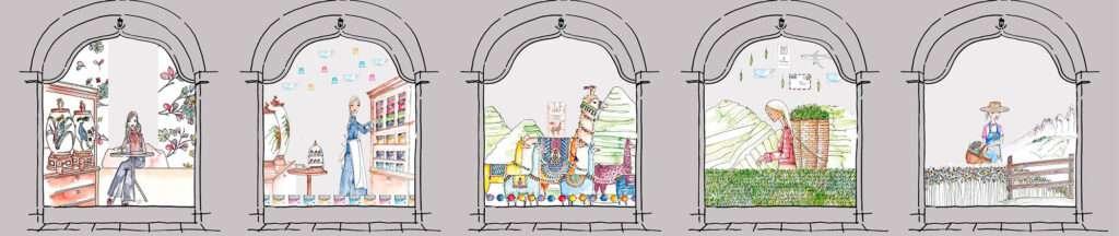 Nadja König Illustration Dallmayr München Schaufenster