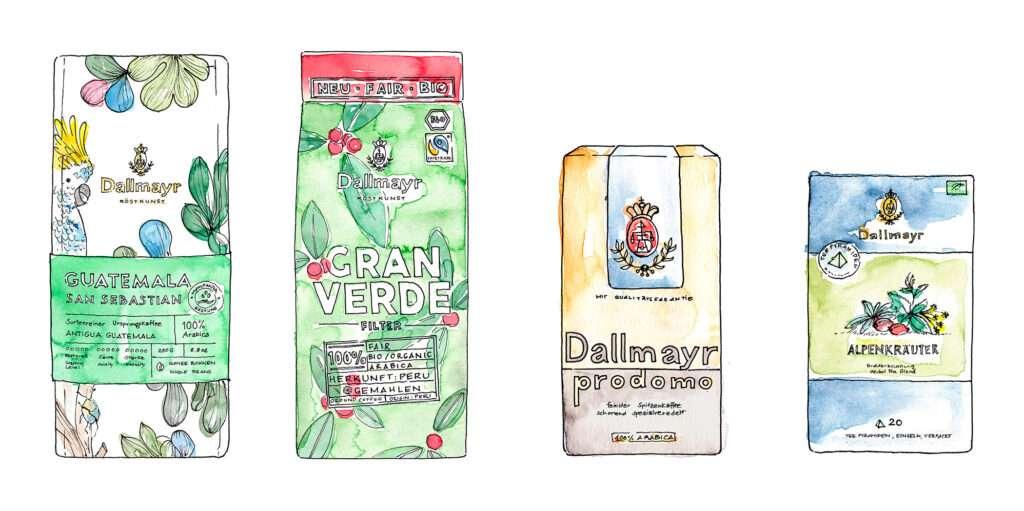 Nadja König Illustration Dallmayr München Packaging