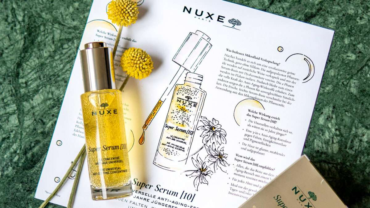 Nadja König Beauty Produkt Illustration Nuxe