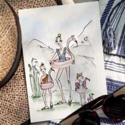 Das Grafenstein Reisetagebuch Nadja König Familientrip Illustration Reisen mit Kindern
