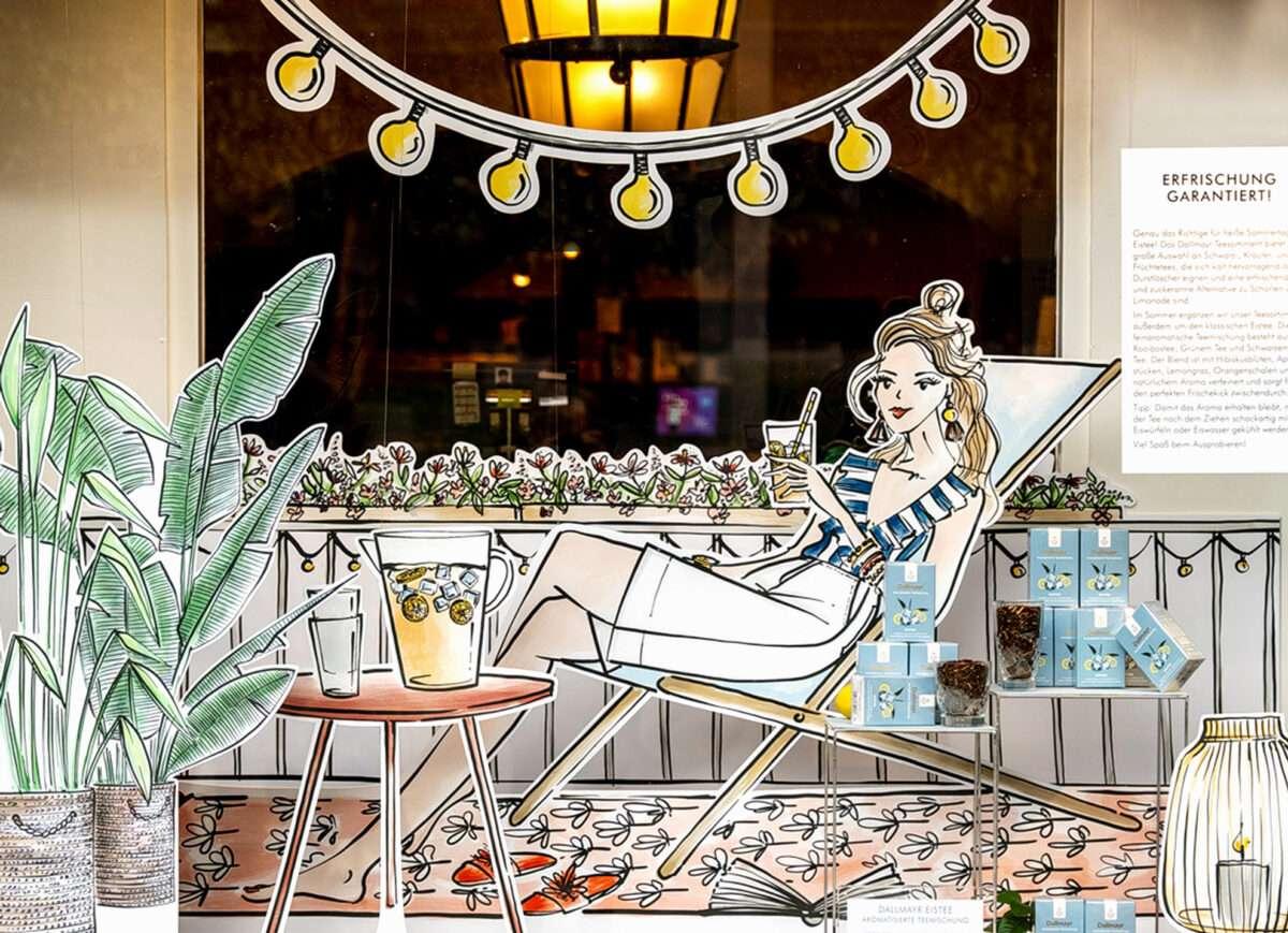 Dallmayr München Schaufenster Illustration Nadja König