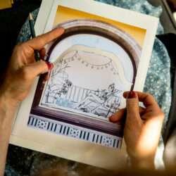 Schaufenster Skizze Illustration Nadja König