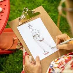 Fashion Sketching Live Illustration